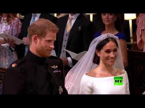 شاهد لقطات من حفلة زفاف الأمير هاري وميغان ماركل