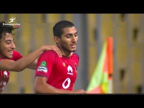 شاهد  أحمد حمدي يحرز الهدف الأول للأهلي في شباك المصري