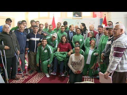 شاهد سفارة الصين تقدّم معدات رياضية للمعاقين