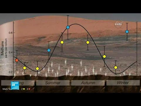 بالفيديو مواد عضوية على سطح المريخ