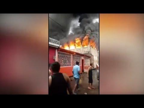 مقتل ثمانية أشخاص إثر حريق في منزل خلال احتجاجات دامية في نيكاراغوا