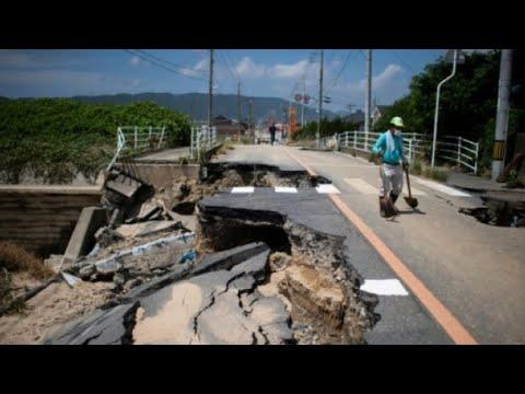 اليابان تحت خطر المياه المتجمعة وراء الركام