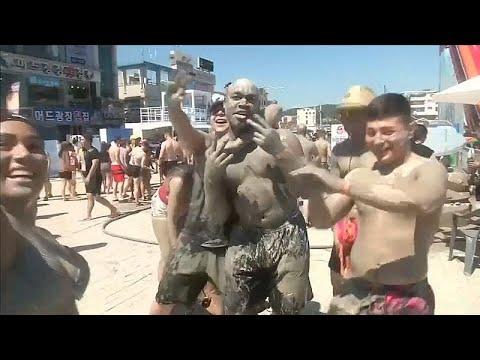 اللعب بالطين في كوريا الجنوبية