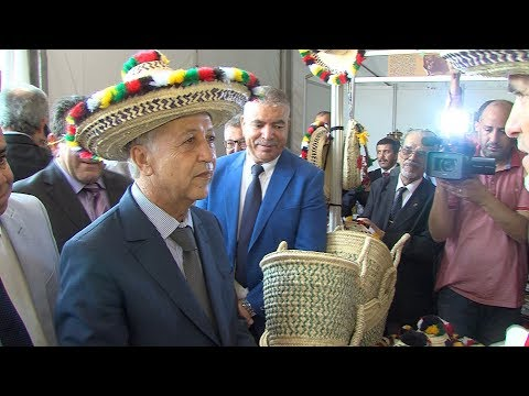 شاهد افتتاح معرض الصناعة التقليدية بالعرائش للنهوض بمنتجات اللكوس