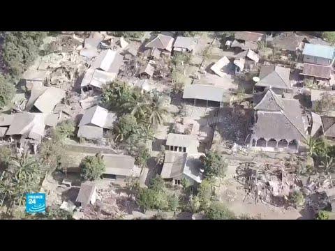 شاهد صور من الدمار الذي خلفه زلزال إندونيسيا