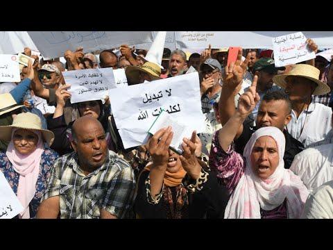 آلاف التونسيين يتظاهرون ضد إصلاحات لجنة رئاسية تقترح المساواة في الإرث