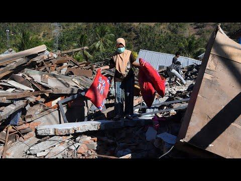 صعوبة الوصول إلى المناطق الجبلية بعد زلزال