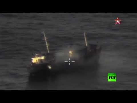 مقاتلة سو34 تدمر سفينة بأحدث صواريخ خ35