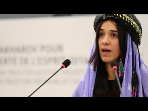 شاهد العراقية الإيزيدية ناديا مراد من حياة الاستعباد إلى نيل جائزة نوبل للسلام