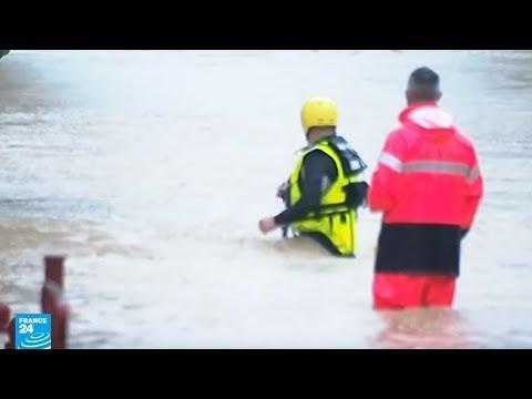شاهد فيضانات قوية تضرب جنوب فرنسا وتوقع عددًا من القتلى