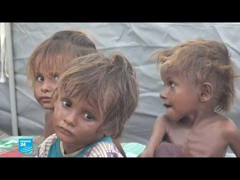 شاهدظروف إنسانية مزرية وصور صادمة للنازحين من ويلات الحرب في اليمن