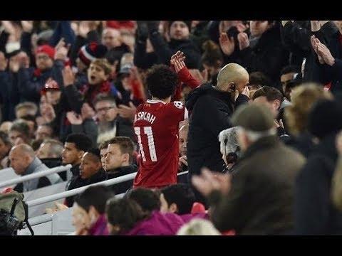 شاهد  فرحة جماهير ليفربول بهدف صلاح في مرمى