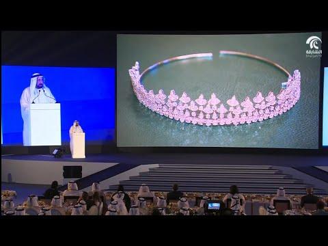 شاهدقصيدة إكليل الشارقة للقاسمي خلال افتتاح الدورة الـ37 من المعرض الدولي للكتاب
