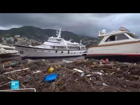 شاهد عاصفة ثلجية قوية تضرب أوروبا وتأثيرها على الموانئ والمنازل
