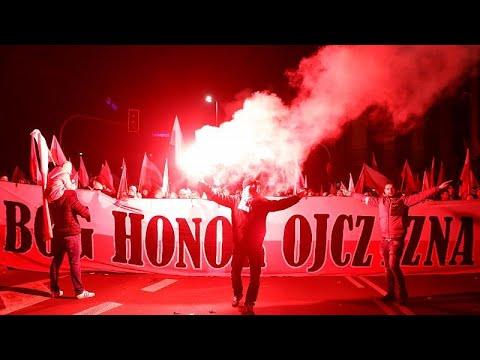 شاهداليمين المتطرف يتصدّر مسيرة احتفال بولندا بمائة عام على استقلال البلاد