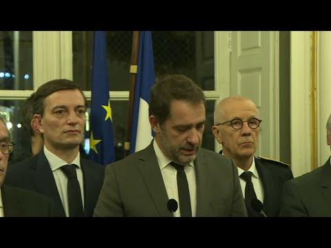 شاهد وزير الداخلية الفرنسي يعلن مقتل المشتبه بتنفيذ هجوم ستراسبورغ