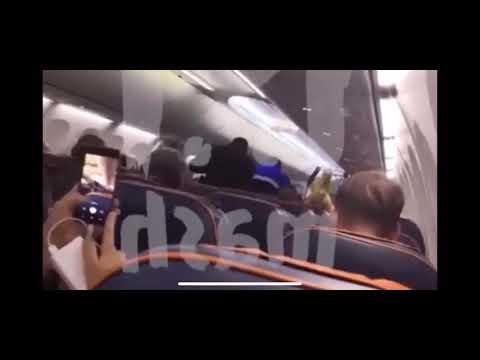 شاهد لحظة توقيف الإرهابي خاطف الطائرة الروسية