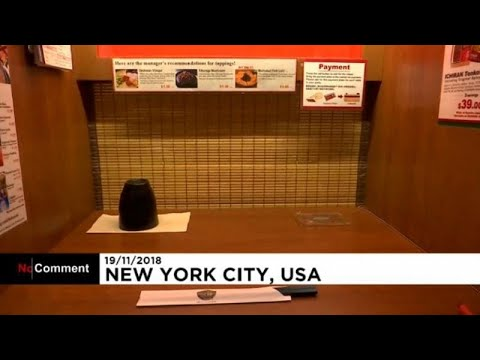 سكينة غير معهودة في مطاعم يابانية وسط نيويورك