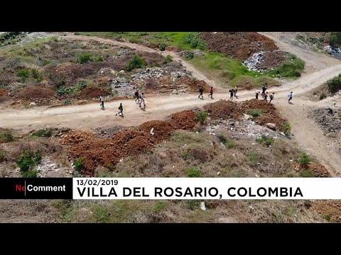 شاهد فنزويليون يجتازون طرقا وعرة للوصول إلى كولومبيا