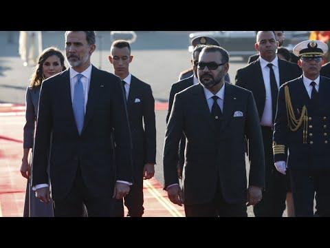 شاهد ملك إسبانيا يصل إلى المغرب في زيارة رسمية لمدة يومين