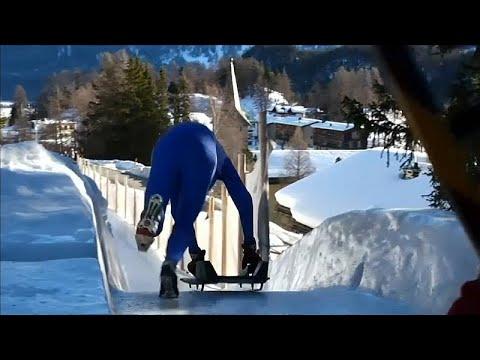 شاهد التزحلق من مُنحدر ارتفاعه 514 قدمًا في جبال الألب بسويسرا