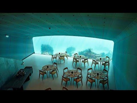 مناظر طبيعية بأول مطعم تحت الماء في أوروبا