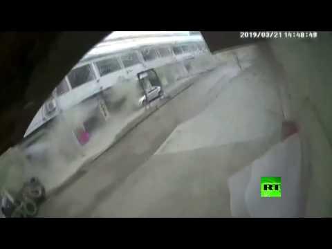لحظة انفجار ضخم زلزل الأرض في الصين