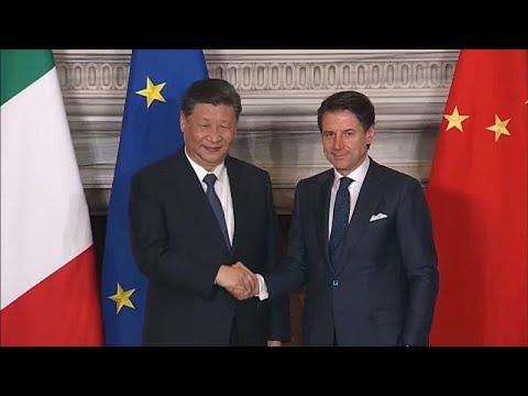 شاهد الرئيس الصيني ورئيس الوزراء الإيطالي يوقّعان اتفاقيات تجارية