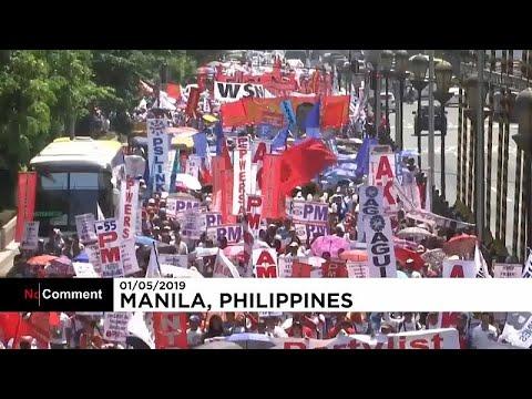 عمال فلبينيون يطالبون الحكومة بتحسين أوضاع العمل