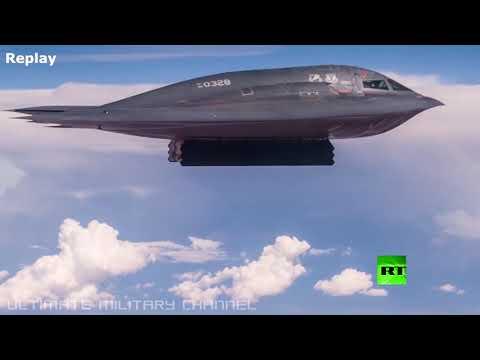 لحظة انفجار قنبلة gbu57 الأميركية فائقة القوة تحت الأرض