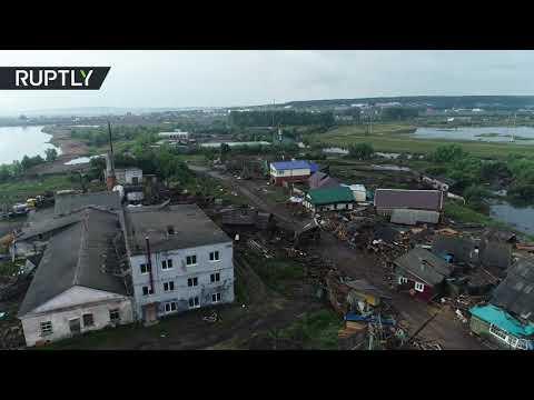 شاهد مقاطعة أركوتسك لا تزال تعاني من الفيضانات