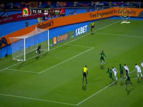 هدف التعادل للمنتخب النيجيري أمام الجزائر