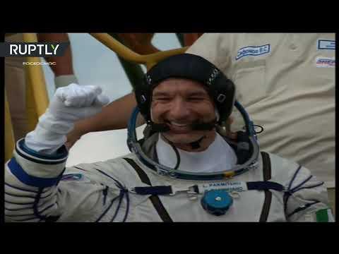 شاهد إطلاق مركبة الفضاء الروسية سويوزإم إس 13
