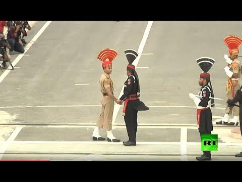 شاهد القوات الهندية تُشارك في مراسم لمناسبة عيد استقلال باكستان