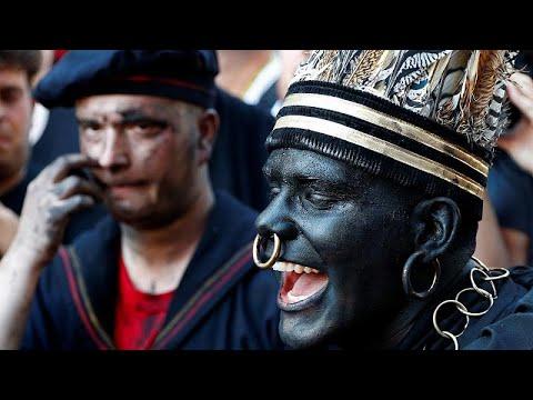 شاهد انطلاق مهرجان الوجه الأسود في بلجيكا