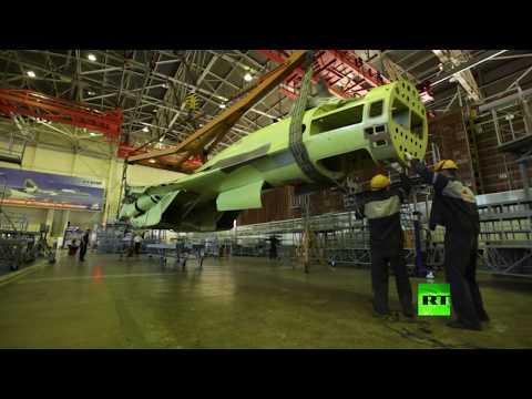 مراحل تصنيع مقاتلة سو35 الروسية بتقنية تايم لابس