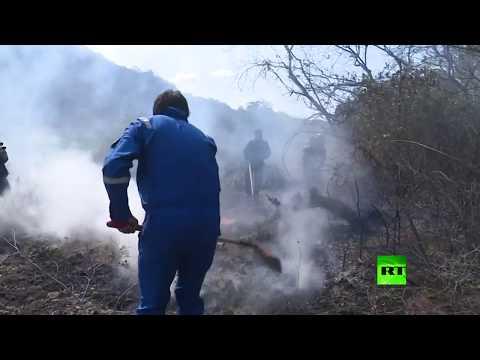 رئيس بوليفيا يشارك شخصيًا في إخاد حرائق الأمازون