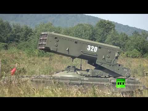 قدرة قتالية عالية لـراجمة ماجد الروسية تستخدم قذائف حارقة تذهب العدو ومنشآته