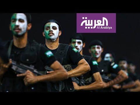 استعراض عسكري لقوات أمن الخليج بمدينة مكة السعودية