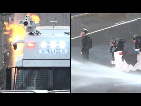 اندلاع أعمال عنف جديدة في هونع كونغ وسط استخدام للغاز المسيّل للدموع