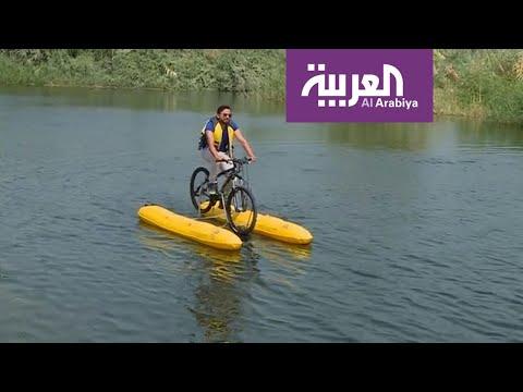 دراجات هوائية للمرة الأولى فوق مياه نهر النيل