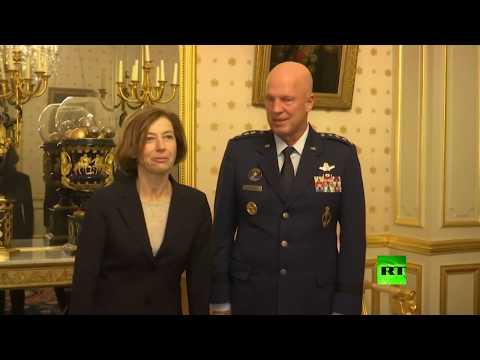 وزيرة الدفاع الفرنسية تستقبل قائد القوات الفضائية الأميركية