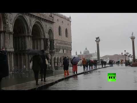 كاتدرائية القديس مرقس في البندقية تعاني من فيضان جديد