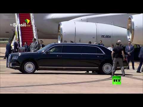 سيارة أوروس للرئيس بوتين بأرقام روسية في البرازيل