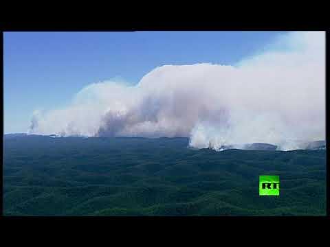 تحطم مروحية أثناء مكافحة حرائق الغابات في أستراليا