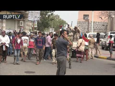 شاهد قوات الحزام الأمني تسيطر على القاعدة الإدارية والأمانة العامة لرئاسة الوزراء في عدن