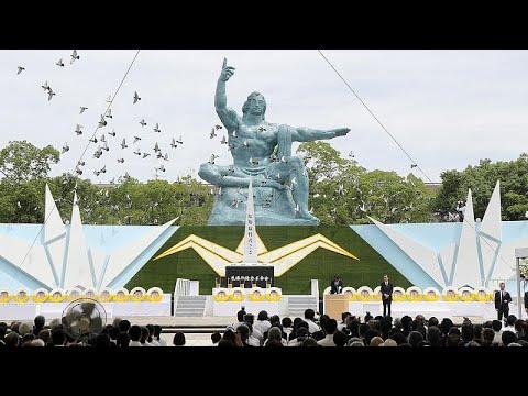 شاهد ناغاساكي اليابانية تُحيي الذكرى الرابعة والسبعين لضربها بالقنبلة الذرية