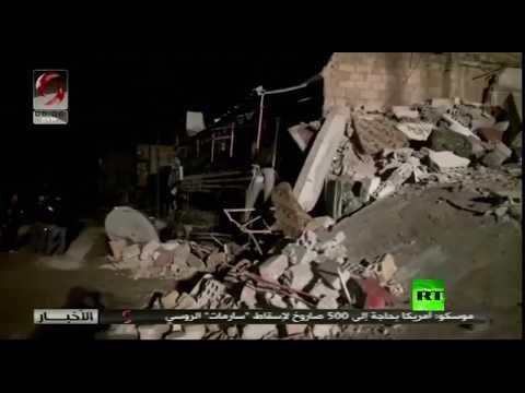 اللقطات الأولى للغارات الإسرائيلية على ضواحي دمشق