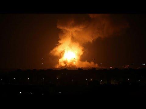 شاهد قصف إسرائيلي على غزة ردًا على إطلاق صواريخ من القطاع