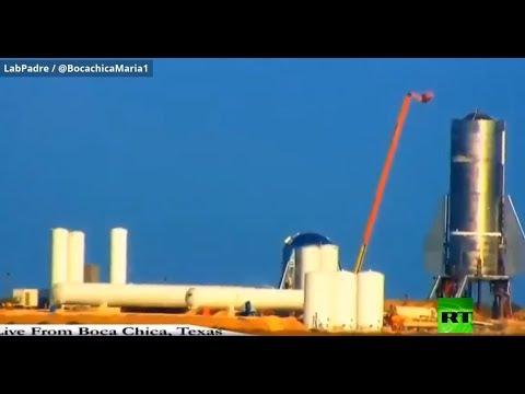 لحظة انفجار صاروخ لـ سبيس إكس الأميركية